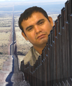 the face of an illegal immigrant and sexual abuser looms over the mexican border to the united states