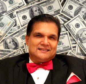 Fat Leonard sits before a swath of cash