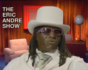 flavor flav sits on the set of the eric andre show