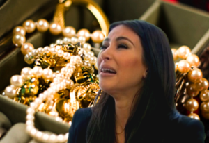 kim kardashian cries over a bunch of expensive jewelry